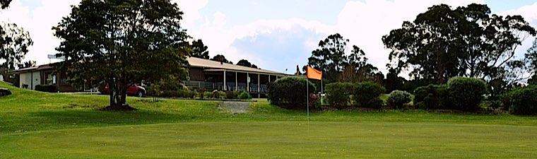 green and clubhouse